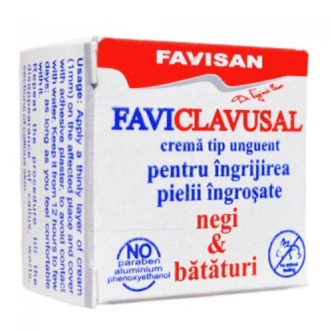 Faviclavusal - unguent pentru ingrijirea pielii ingrosate, negi si bataturi