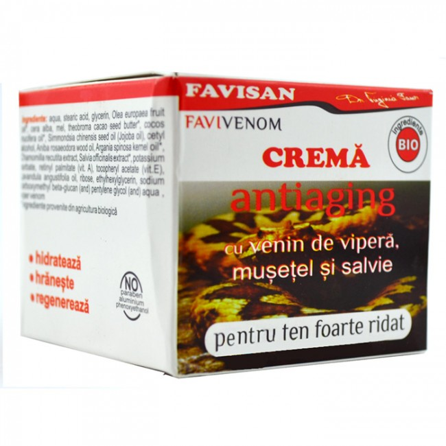 Crema antiage cu venin de vipera Favivenom