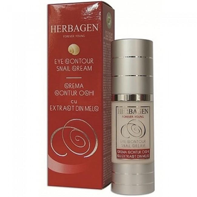 Crema contur ochi cu extract din melc, Herbagen