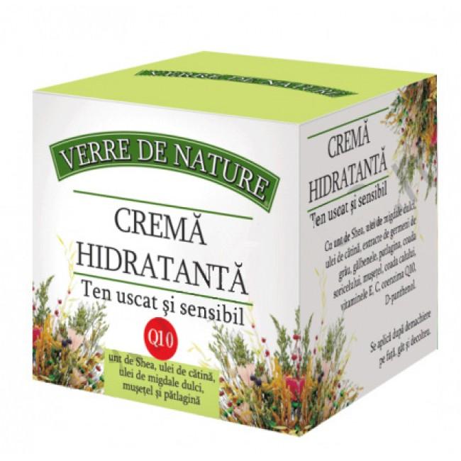Crema hidratanta cu coenzima Q10 pentru ten uscat si sensibil