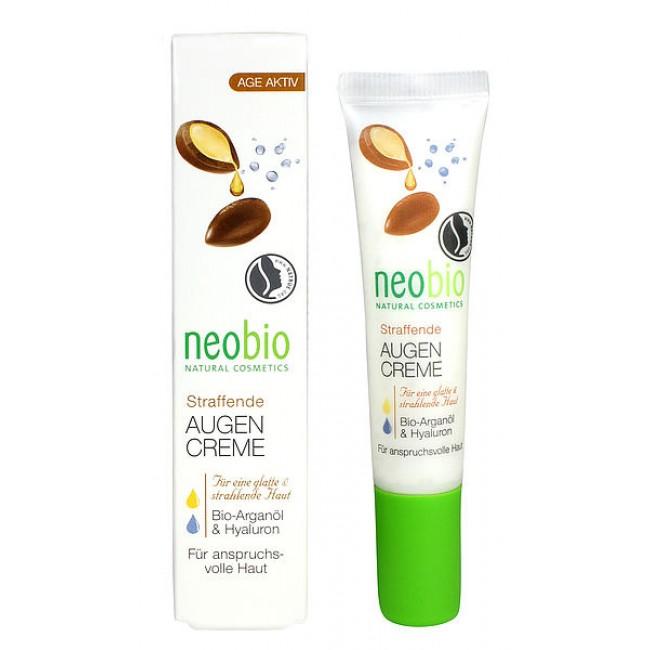 Crema bio pentru fermitatea zonei ochilor cu ulei de argan si acid hialuronic neobio