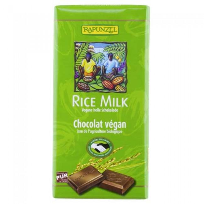Ciocolata vegana ecologica amaruie cu lapte de orez,  Rapunzel