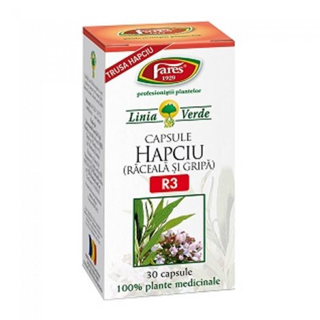 Hapciu - Raceala si gripa, R3, capsule, Fares