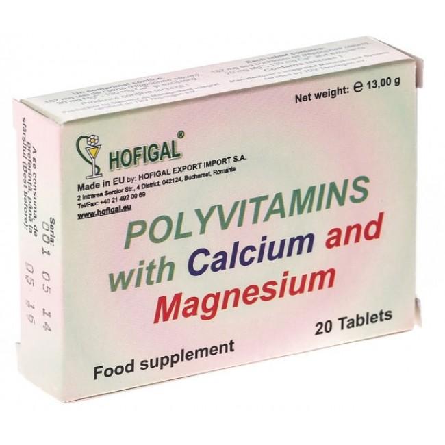 Polivitamine naturale de Hofigal cu Calciu si Magneziu 40cpr.