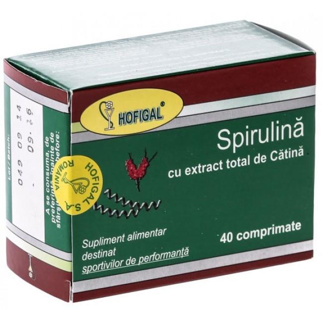 Spirulina cu extract total de catina 40cpr.