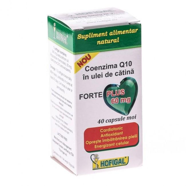 Coenzima Q10 in ulei de catina FORTE PLUS 60mg (capsule moi)