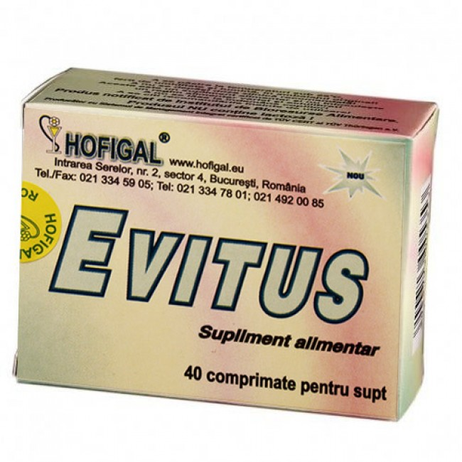 EVITUS - pentru infectii acute si cronice ale cailor respiratorii, Hofigal