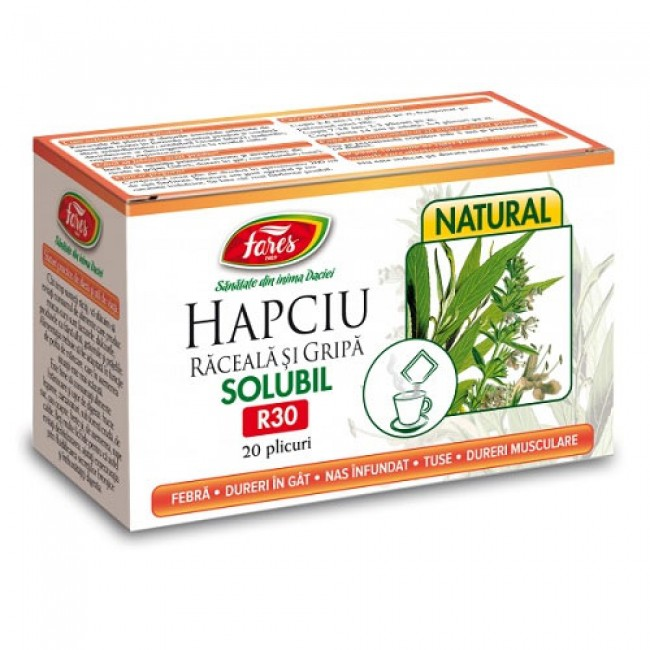 Hapciu (raceala si gripa) solubil, R30, 12 pl Fares