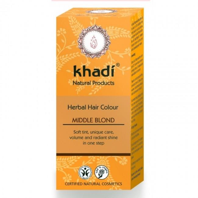 Henna Blond Mediu Vopsea de par Khadi