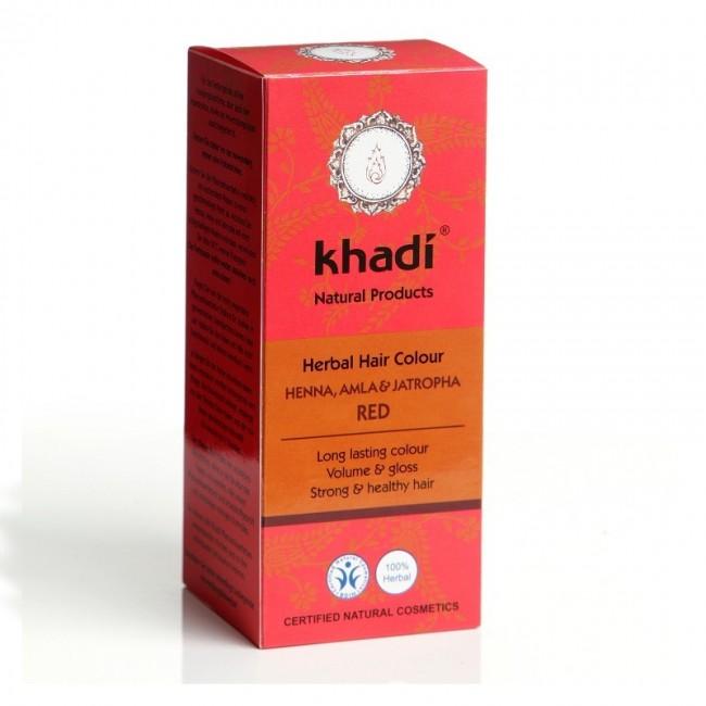 Vopsea henna cu amla si jatropha (Rosu) Khadi