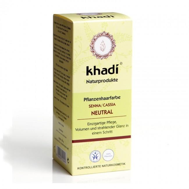 Henna Neutra (Senna/Cassia) Khadi - Tratament pentru par