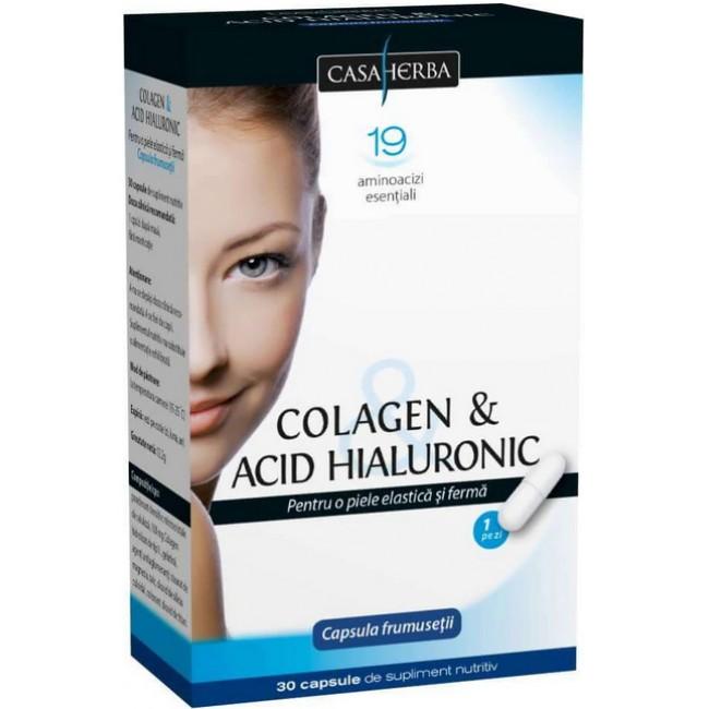 Colagen + Acid Hialuronic - capsula frumusetii, 30cps