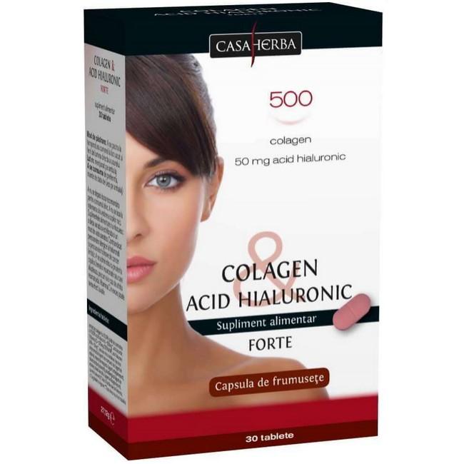 Colagen + Acid Hialuronic forte - capsula frumusetii, 30cps