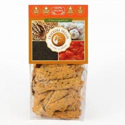 Crackers vegani cu rosii si usturoi