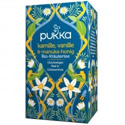 Ceai bio cu musetel, vanilie si miere Manuka - Pukka