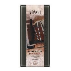 Ciocolata neagra cu 85% cacao, ecologica, Vivani